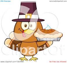 clipart of a cartoon cute thanksgiving turkey bird wearing a