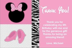 minnie mouse thank you cards minnie mouse thank you cards pretty in pink mouse thank you card