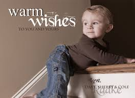 warmest wishes photo card warm wishes christmas card nounces