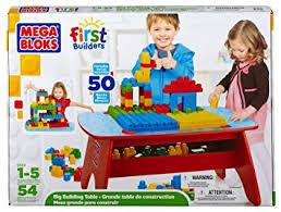 my first mega bloks table mega bloks first builders big building table amazon co uk toys games