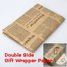 kraft christmas wrapping paper vintage wrapping paper roll newspaper gift kraft diy sided
