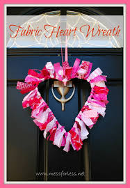valentines decoration ideas valentines idea fabric wreath mess for less