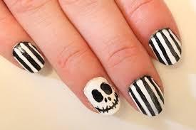 halloween nail art jack skellington fingernails youtube