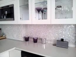 white iridescent glass tile kitchen backsplash lovely mosaic tiles