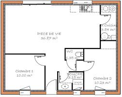 plan plain pied 2 chambres plan de maison individuelle plain pied plan maison 80m2 2 chambres