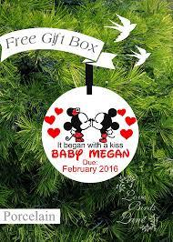mickey u0026 minnie pregnancy ornament expecting ornament baby