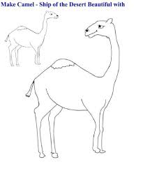 camel coloring page for kids