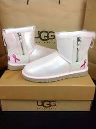 s ugg australia mini zip boots ugg australia shiny mini zip breast cancer baby pink boots