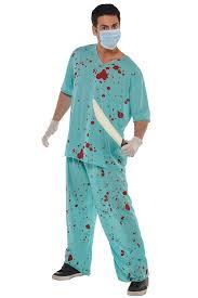 christys dress up unisex bloody scrubs hospital halloween fancy