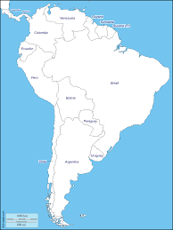 Map Of Bolivia South America by South America Free Map Free Blank Map Free Outline Map Free