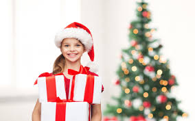 christmas gifts for new merry christmas tree girl happy smile child gifts new year