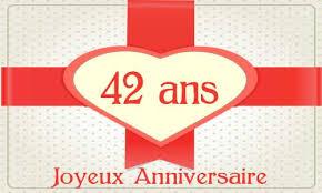 42 ans de mariage carte anniversaire mariage 42 ans oiseau coeur