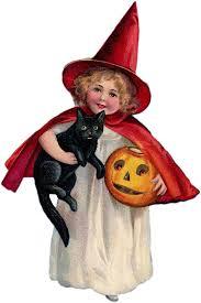 vintage children halloween greeting card 3 95 handmade paper