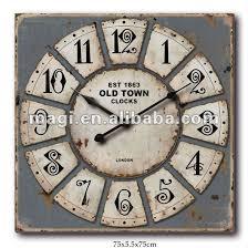 Grande Horloge Murale Carrée En Bois Vintage Achat Horloge Murale