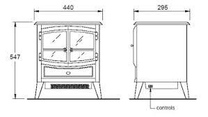 dimplex springbourne electric stove