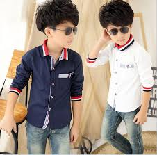2016 120 160 big boys shirts striped sleeve shirt