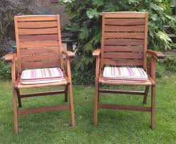 Chairs For Garden Next Hardwood Reclining Garden Chairs For Garden Or Patio In