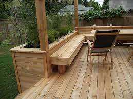 got a deck built in a planter growing things pinterest
