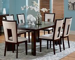 Dining Room White Dining Room Set With Leather Dining Chairs With - White leather dining room set
