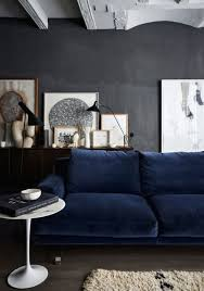 home interior accents blue velvet daze grey wall floor sofa white accents