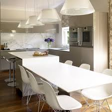 glass pendant light chrome backless chair white varnished wooden
