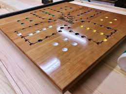 cherry aggravation game board by woodshaver tony c lumberjocks