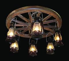 Wagon Wheel Lighting Fixtures Amish Wagon Wheel Chandeliers With Edison Bulbs Wagon Wheel Fans