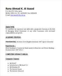 Private Banker Resume Sample by 26 Banking Resume Examples Free U0026 Premium Templates