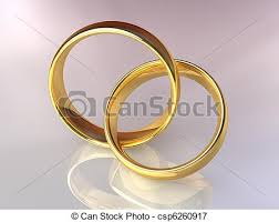 linked wedding rings gold wedding rings together two gold rings linked together