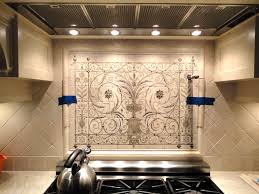 Kitchen Backsplash Wallpaper Hand Painted Tiles Kitchen Backsplash Superb 8875 Home Design