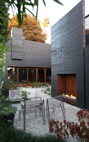 lovely gallery of modern outdoor fireplace outdoor designs