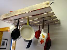 kitchen pot and pan rack hanging racks for pots and pans