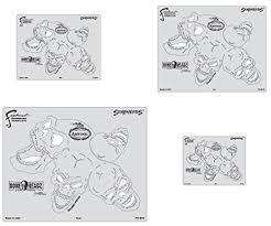 amazon com artool freehand airbrush templates boneheadz template