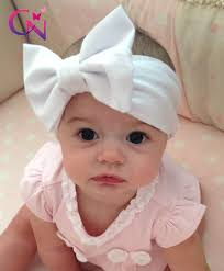 baby bow headbands new fashion kids solid cotton hair bow headband handmade