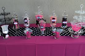 Pink And White Candy Buffet by Spoonful Of Sugar Custom Candy Buffets Think Pink