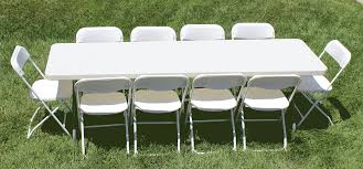 Plastic Tables And Chairs Table Rentals For Parties Weddings And Events In Riverside And