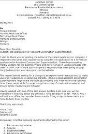 Sample Resume For Construction Superintendent by Construction Superintendent Resume Cover Letter Sample Resume