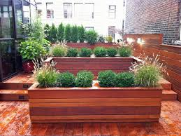 garden planter boxes wooden med art home design posters