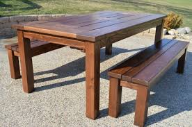 incredible wooden patio table and benches acacia patio furniture