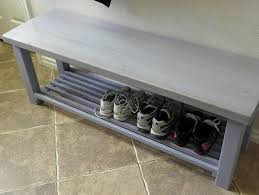 Storage Bench With Shoe Rack Chunky Hall Shoe Storage Bench Shoe Racks Uk By Bespokepineuk