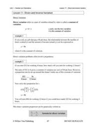 direct inverse proportions lesson plans u0026 worksheets