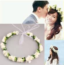 flower hair band 2018 wedding hair jewelry bohemian foam flower garlands crown