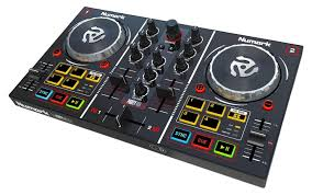 dj table for beginners amazon com numark party mix starter dj controller with built in