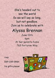 going away invitations new selections winter 2017