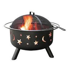 Backyard Fire Pit Lowes by Shop Landmann Usa Big Sky 29 5 In W Black Steel Wood Burning Fire