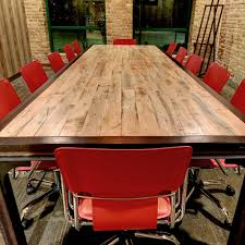reclaimed wood work tables