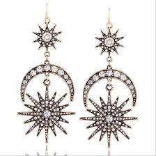 types of earrings for women luxury sun moon drop earrings daily zone