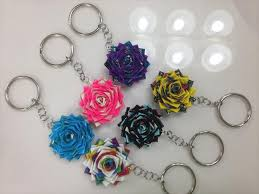diy duct tape flower keychains 101 duct tape crafts please