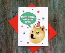 Doge Meme Christmas - doge christmas card funny christmas card doge such christmas funny