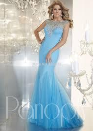 Light Blue Mermaid Dress Light Blue Pink Mermaid Prom Dresses Sparkly Beaded Evening Gowns